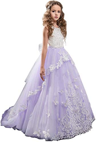 Flower Dress Beaded Pageant Gowns