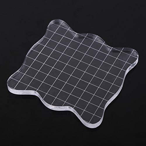 Almohadilla Transparente Transparente para Bloques de acr/ílico para el Proceso de Estampado de Scrapbooking Herramientas Esenciales #1 Bloque de estampaci/ón de acr/ílico
