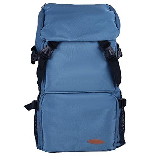 ZKOO Impermeable Mochila de Viaje Nylon Mochila Montañismo Laptop Mochila Backpack Escolar Colegio Mochila Gran Capacidad Azul Claro