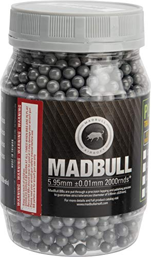 (Evike MadBull Ultimate Match Grade Heavy Weight 6mm Airsoft Sniper BB (Model: .46g Stainless Grey / 2000rd Bottle))