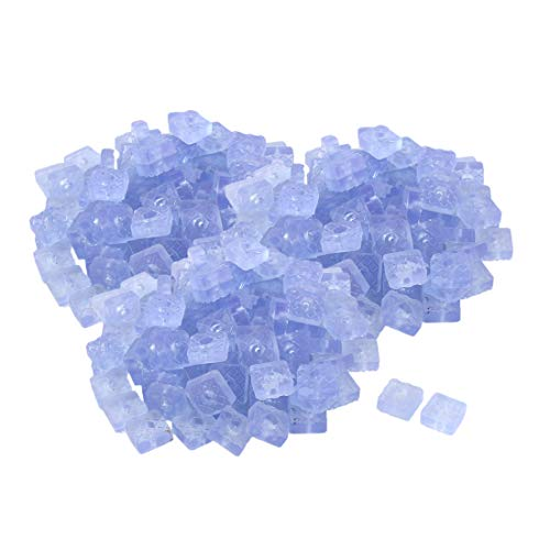OKSLO School rubber square table chair foot protector pad clear blue 22 x 22mm 300 pcs by OKSLO (Image #1)