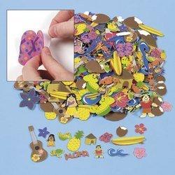 500 Assorted Luau Foam Craft Stickers