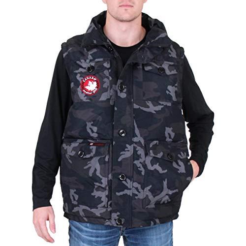 CANADA WEATHER GEAR Men's Puffer Vest, Black Camo, L