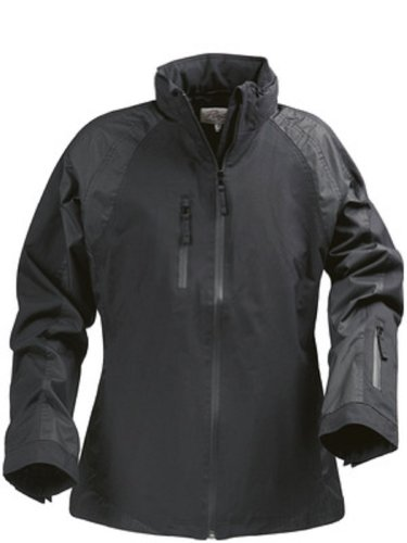 Premium Quality Womens Wind and Waterproof Winter Sports Shell Jacket with Detachable Hood Black