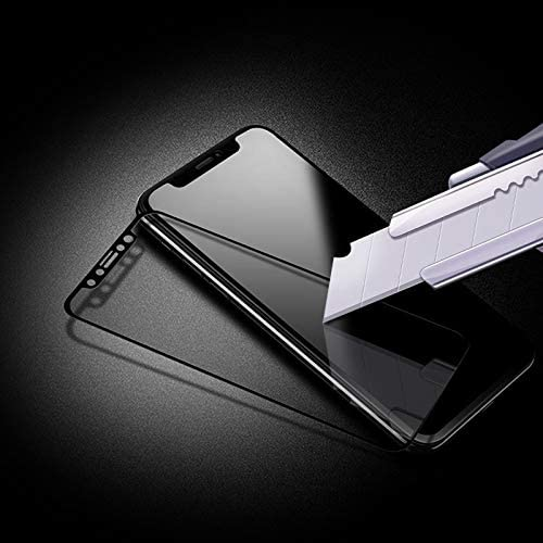 Black LGYD for for iPhone 11 Pro Max 10pcs 0.33mm 9H 2.5D Full Glue Tempered Glass Film Color : Black