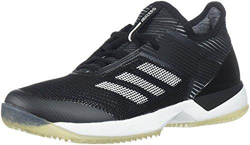 adidas Women's Adizero Ubersonic 3 w Clay Tennis Shoe, Core Black/White/Core Black, 5 M US