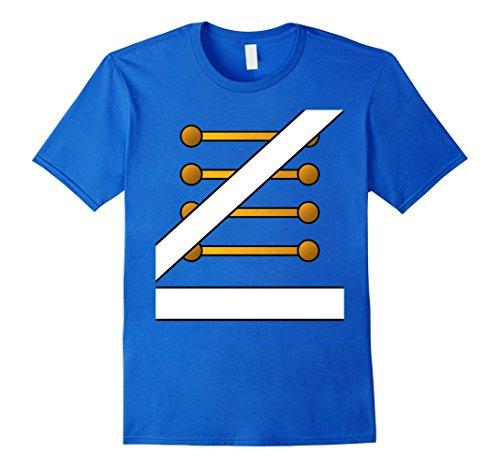 Diy Blues Brothers Costume (Mens Toy Soldier Nutcracker Drummer Prince Costume DIY Shirt Medium Royal Blue)