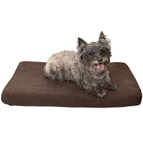 - FurHaven Pet Dog Bed | Deluxe Orthopedic Quilted Suede Mattress Pet Bed for Dogs & Cats, Espresso, Medium