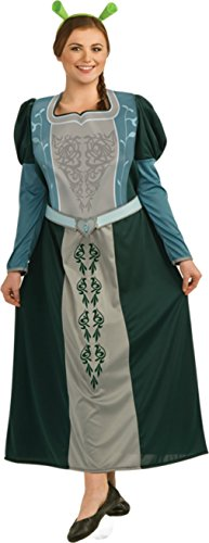 Rubies Womens Shrek Forever Princess Fiona Halloween Themed Party Fancy Costume, Plus (16-20) (Fiona Adult Costume)