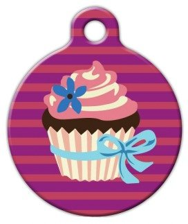 (Cupcake - Custom Pet ID Tag for Dogs and Cats - Dog Tag Art - LARGE SIZE)