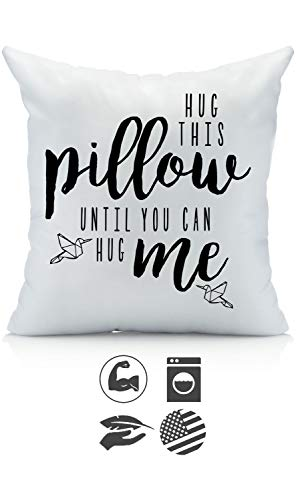 Oh, Susannah Hug This Pillow Until You Can Hug Me 18x18 Throw Pillow Cover Christmas Girlfriend Gifts