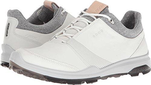 ECCO Women's Biom Hybrid 3 Gore-Tex Golf Shoe, White/Black Yak Leather, 7 M US