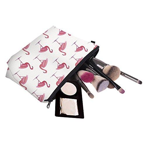 Artone Rot Flamingo Blätter Kosmetiktasche Federmappe Mäppchen Tüte Beutel Zipper Kulturbeutel Reißverschluss Kosmetiktüte Weiß Weiß Flamingo ySg8UYus