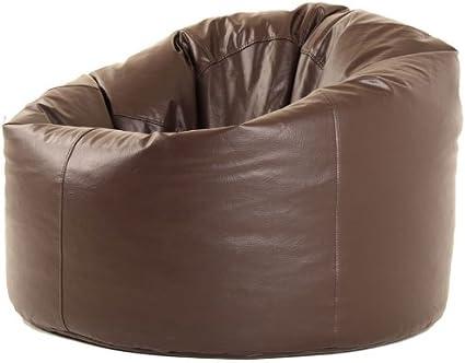 Hi-BagZ/® XXXL Bean Bags Huge Mega Size BROWN Rio Bean Bag Faux Leather BeanBag Gaming Chair