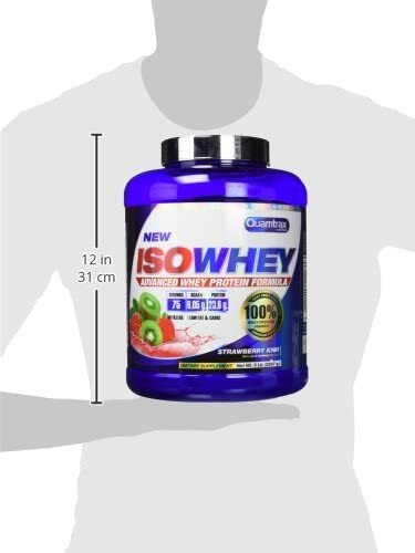 Quamtrax Proteina Iso whey sabor fresa y kiwi-2270 gr 75 ...