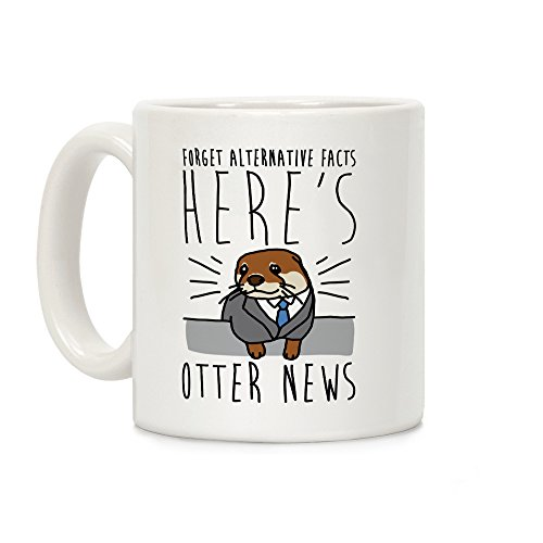 LookHUMAN Otter News White 11 Ounce Ceramic Coffee