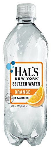 Hal's New York Seltzer Water Orange 20 Oz (24 Pack)