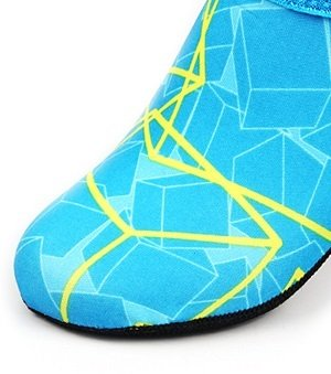 NBERA 2econdskin Barfuß Wasser Haut Schuhe Aqua Socken für Beach Swim Surf Yoga Übung 2017 Mint / Gelb Muster