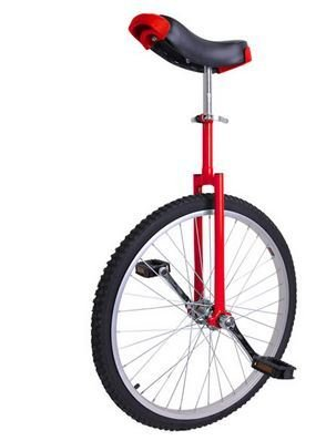 24 inch Wheel Unicycle Red by CHIMAERA