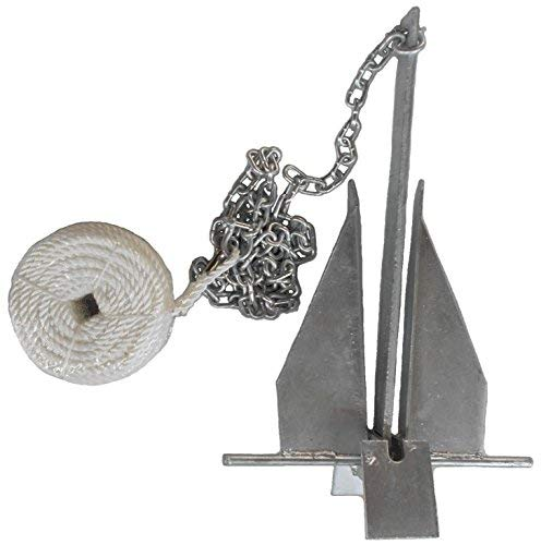 MarineNow Deluxe Portable 13 lb Fluke Style Anchor Kit