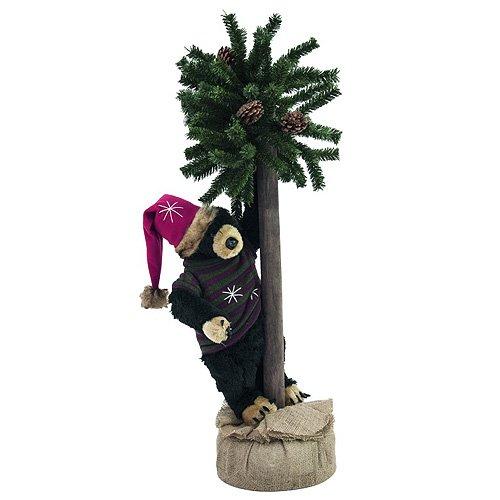 Europalms 105 cm Christmas Bear Figure with Fir New Wave 83314804