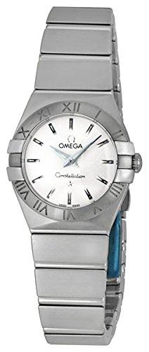 Omega Quartz Bracelet - Omega Women's 12310246002001 Constellation Analog Display Swiss Quartz Silver Watch