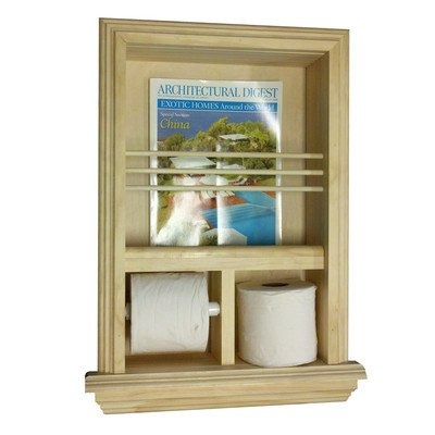Recessed Magazine Rack and Toilet Paper Holder