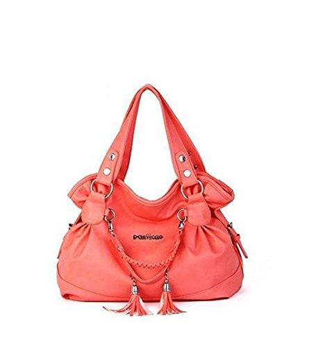 Donne Retro nappa Borse signore casuali Shoulder Bags Plaid Shopping Totes