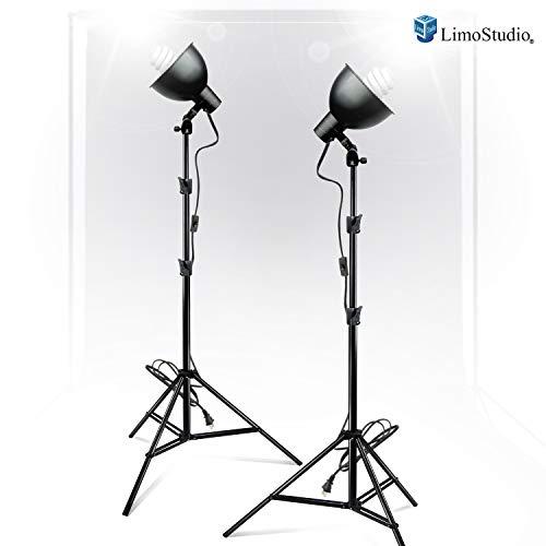 LimoStudio 400W Photography Studio Continuous Lighting Light Kit Bowl Reflector, AGG782