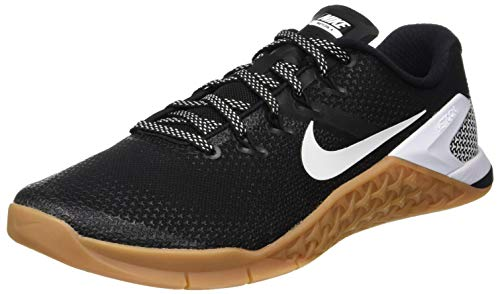 Nike Metcon 4 AH7453 006 Black/White/Gum Medium Brown Men's Crossfit Shoes (10)
