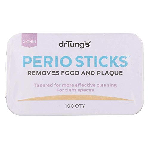 Dr. Tung's - Perio Sticks Plaque Removers X-Thin - 100 Sticks - Pack of 6