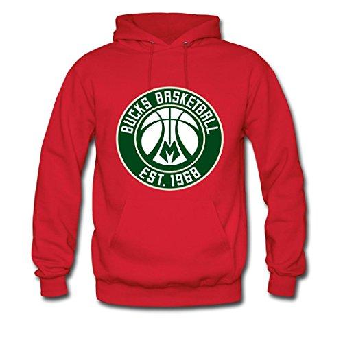 - OIAE Men's Milwaukee Bucks Green Badge Hoodies Sweatshirt XL