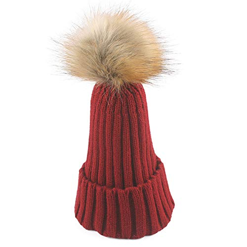 WGFGQX Sombrero De Punto Caliente De Las Señoras Al Aire Libre, Sombrero del Pompom,#1 #14