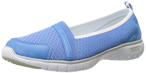 Propet Womens Travellite Sn Walking Shoe  Periwinkle  10 2E Us
