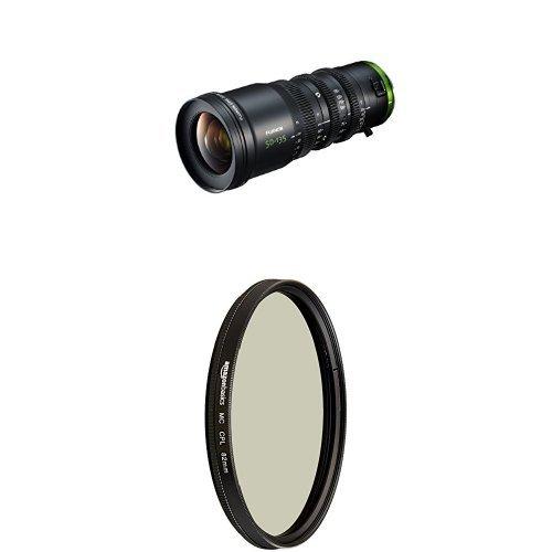FUJINON Cine Lens MK50-135mm T2.9, Black with AmazonBasics Circular Polarizer Lens - 82 mm by Fujinon