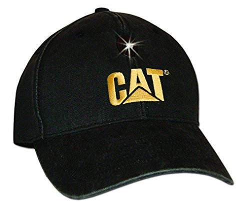 Cat Hat Logo 6 Panel Ball Cap with Impact Resistant LED Work Light