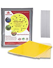COSCANA, Yellow Sticky Traps, 10/20/30/50 PCS, Fruit Fly, Gnat, Ladybug, Mosquito, Ant Trap, Flying Insects, Yellow Sticky Bug Traps, Disposable Glue Traps,8x5.5 Inch, Dual-Sided, Indoor & Outdoor, with Twist Ties