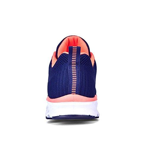 Dames Luchtkussen Schoenen Lichtgewicht Ademend Sport Sport Casual Walking Flats Sneakers Blauw