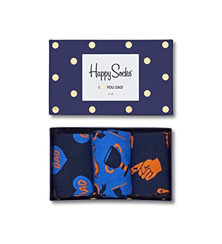 Happy Socks Father's Day Gift Box Blue,Orange 41-46 by Happy Socks