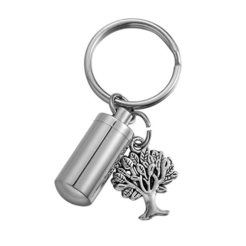 - HooAMI Cremation Urn Keepsakes Tree of Life Charm Pill Box Case Drug Holder Keychain Jewelry