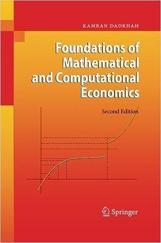 Foundations of Mathematical and Computational Economics by Kamran Dadkhah (2014-09-28)
