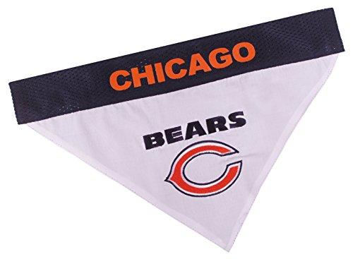 NFL Dog Bandana - Chicago Bears Reversible PET Bandana. 2 Sided Sports Bandana with a Premium Embroidery Team Logo, Large/X-Large. - 2 Sizes & 32 NFL Teams Available