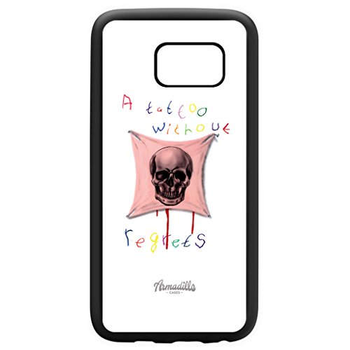 Framed Tattoo Black Silicon Rubber Case for Galaxy S7 by Ramon Bruin + FREE Crystal Clear Screen Protector (Crystal Bruins)