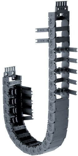 """Igus 1500-100-100-0 Energy Chain Cable Carrier, Polymer, Hinge-Open Crossbar , 0.71 Max Cable Diameter, 0.83"""" Inner Height, 3.94"""" Inner Width, 3.94"""" Bend Radius, 1ft"""" Chain Length"""