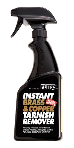 (Flitz BC 01806 Light Brown Instant Brass and Copper Tarnish Remover, 16 oz. Spray Bottle)