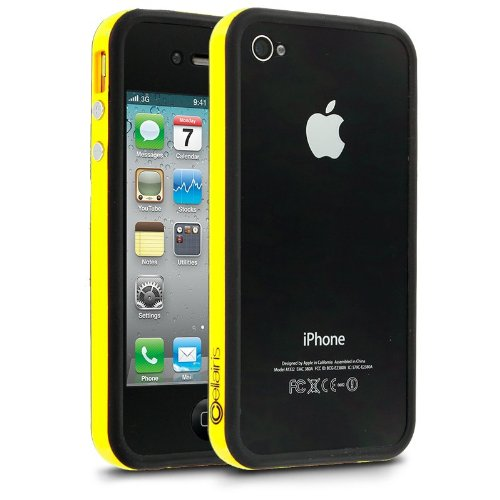 G4GADGET® Iphone 4S/4 Silicon Bumper Yellow/Black