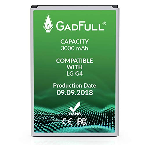 (GadFull Battery Compatible with LG G4 | 2018 Production Date | Corresponds to The Original BL-51YF | Compatible with LG G4 | G4 Dual Sim | G4 Stylus | H815 | H818P | H635)