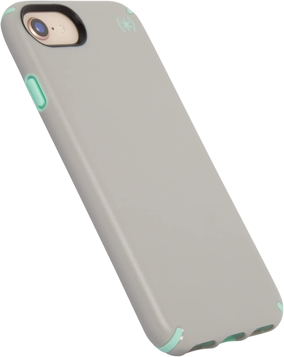Speck Products Protective Skin Cover for iPhone SE 2020 Case/iPhone 7 Case (Also Fits iPhone 6 and iPhone 6S) - (Sand Grey/SURF Teal)