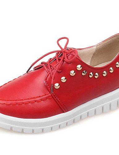 us8 Negro Blanco Zapatos uk3 us8 red uk6 hug de red Oxfords Punta Rojo ZQ cn39 mujer eu39 Semicuero Plataforma Comfort Redonda cn34 Beige Casual uk6 eu39 eu35 beige us5 cn39 qaP5wA5xO