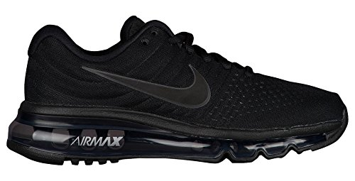 differently 2c109 20870 Nike Big Kids Air Max 2017 (GS) Running Shoe Black Black-Black
